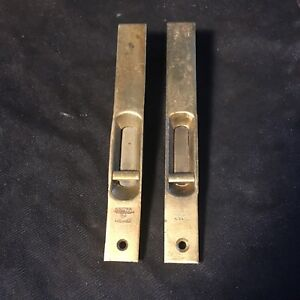Antique Pair Of French Door Mortise Slide Latch Bolt 6 1 8 Long