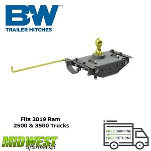 B w Turnoverball Gooseneck Hitch Complete Kit For 2019 Dodge Ram 2500 3500