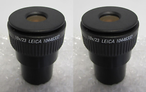 New Leica 10446332 10x 23 Microscope Eyepieces Two Eyepieces
