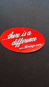 Snap On Tools There Is A Difference Sticker Emblem Decal Vintage Nos