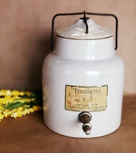 Antique Jar Radioactive Water Dispenser Crock Pharmacy Jug Stoneware Empty