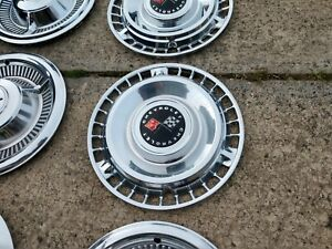 Vintage 1961 Chevy Impala Belair Biscayne 14 Hubcaps Wheel Covers