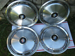 Vintage 4pc Buick Electra 15 Inch Full Wheel Hubcaps 10 Slot Vg Cond Rare Find