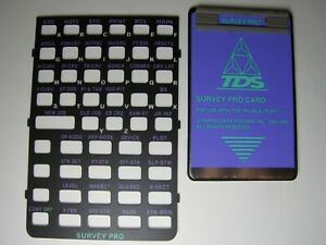 Tds Survey Pro Card With Overlay Version 6 3 For The Hp 48gx