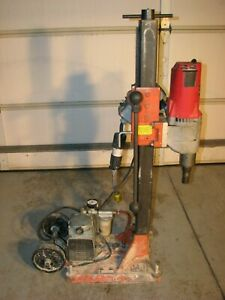 Milwaukee Dymodrill 2 Speed 4096 Core Drilling Coring Drill Rig With Vacuum Pump