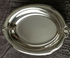 Vintage Webster Wilcox International Silver Co Is 7112 Oval Serving Dish