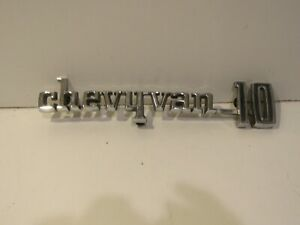 Chevy Van 10 Emblem Trim Script Metal Badge Ornament Nameplate