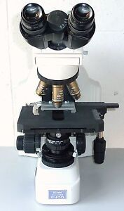 Nikon Eclipse E400 Binocular Microscope With 3 Objectives