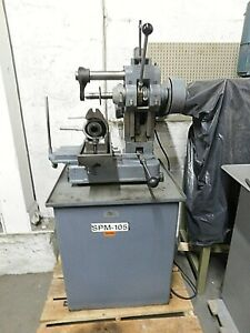 Barker Am Horizontal Milling Machine W Heavy Duty Cabinet 5c Collet Fixture