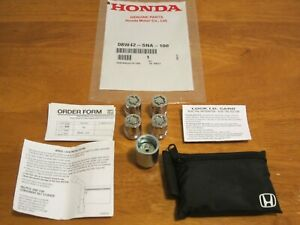 Genuine Oem Honda Used 08w42 Sna 100 Wheel Lock Set See Vehicle List
