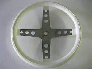 Custom White Steering Wheel 4 Post With Holes Rat Rod Street Rod Used