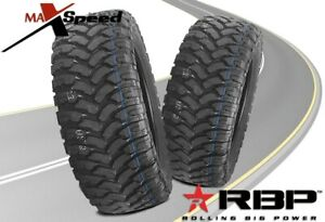 Qty Of 2 Rbp Repulsor Mt 37x13 50r20lt 127q All Terrain Mud Tires Mt
