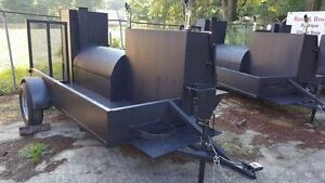 City Hogzilla W Grill Door Lock Bbq Smoker Trailer Food Truck Catering Business