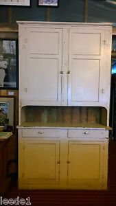 Late 1800 S Step Back Cupboard 7 8 Hutch Architectural Salvage Doors