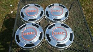 Vintage Set Of 4 Gmc Hubcaps 10 5 Inches Auto Truck Car