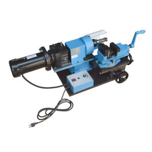 1 Hp Electric Tube Pipe Notcher 1 2 To 2 End Mill V block Rotary Vise 0 250 Rpm