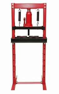 Torin Big Red T51201 Steel Frame Hydraulic Shop Press 12 Ton Capacity Black