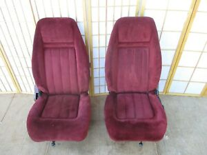 73 91 Chevy Gmc Pickup Truck Blazer Jimmy Suburban Oem Interior Red Bucket Seats
