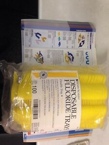 Henry Schein Disposable Fluoride Trays Small Yellow Lot Of 100 New