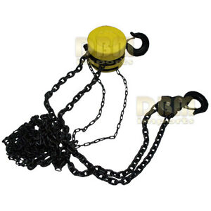 5 Ton 3 8 Chain Hoist Lift Winch Puller Block Pulley Come Along Hand Tools