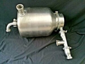 Vintage Surge Stainless Steel Milker Milk Can Receiving Can