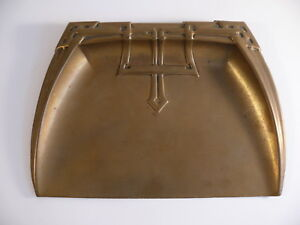 Royal Rochester Brass Tray Table Butler Arts Crafts Vintage Desk Accessory