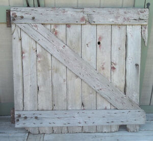 Vintage Barn Door Farm 1 2 Stall Door Wall Display Board 45 H Original Hardware