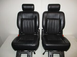 2003 2006 Lincoln Navigator 2nd Row Seats Expedition 2nd Row Seats Black Leather