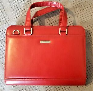 Franklin Covey Women s Planner 7 ring Binder Compact Red Leather Purse Planner