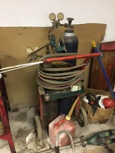 Oxygen Acetylene Torch Kit With Tanks And Cart