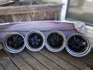 4 Rare Vintage R Model Shelby American Racing Aluminum Racing 15 X 7 Wheels