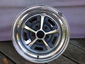 Nice 14x6 Magnum 500 Chrome Wheel Mopar Dodge Ford Mustang 5x4 5