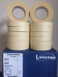 Automotive Masking Tape Half Case 18 Rolls Ipg 777 High Temp 1 X 60 Yds Beige