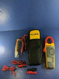 Fluke 373 Trms Clamp Meter Screen Protector Excellent Soft Case