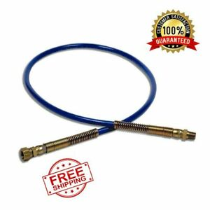 4 ft Whip Hose Paint Sprayer Flexible Connection With Zinc plated Spring Guards