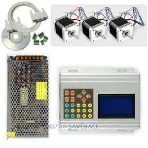 Cnc Professional 3axis Tb6560 Stepper Driver Kit box Motor psu keypad display