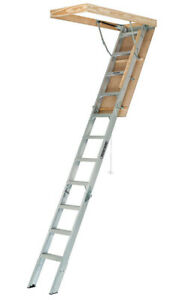 Attic Ladder Pull Down Aluminum Door Steps Pull String 8 To 10 Foot