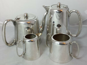 Vintage Newhall Silver Plated 4 Piece Hotel Ware 1 Pint Tea Service