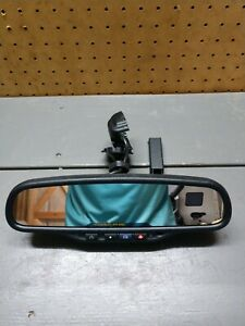 00 09 Gmc Chevy 6973 Rear View Mirror Auto Dim Dual Compass Temp Onstar 15176973