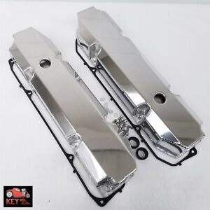 Big Block Dodge Chrysler Mopar Fabricated Polished Aluminum Valve Covers 383 440