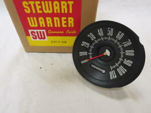 Vintage 1960 Chrysler Plymouth Valiant Stewart Warner Speedometer Assembly Nos