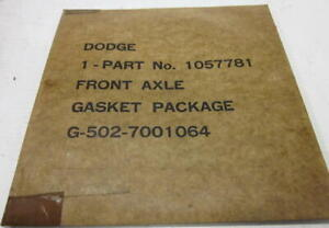 Wwii Military G502 3 4 Ton Dodge Wc Truck Front Axle Gasket Package Nos