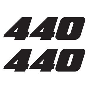 440 Engine Decal Graphic Fits Mopar Dodge Plymouth Chrysler Vehicles