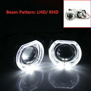 Bi xenon Projector Lens Dtm Square Led Halo Ring Shrouds For Headlights 2 5