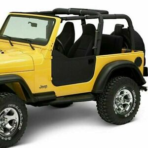 Bestop 53039 15 Soft Lower Half Doors Black Denim For 1997 2006 Jeep Tj Wrangler