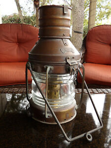 Anchor Ship Lantern Beautiful Large Brass Light Nautical Boat Navy Kustom Boat