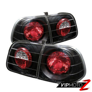 1999 2000 Honda Civic 4dr Ej9 B16 Jdm Black Tail Light Brake Lamp Si Vtec Lh Rh