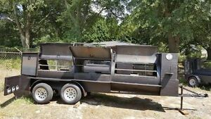 Mega T Rex Pro Bbq Smoker Cooker Grill Trailer Mobile Food Truck Cater Business