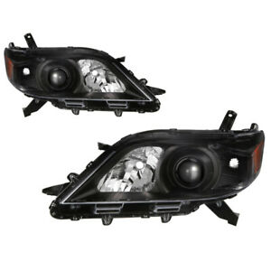 Black For 2011 2017 Toyota Sienna V6 Le Limited Black Housing Headlights Lamps