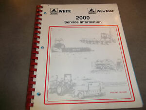 Agco White New Idea 2000 Service Information For Hay Balers Conditioners Planter
